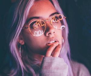girl, photography, and purple image