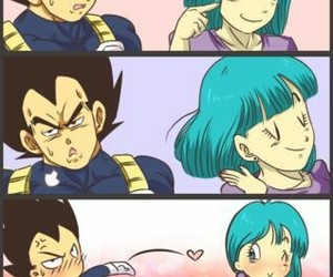 vegeta, bulma, and dragon ball image