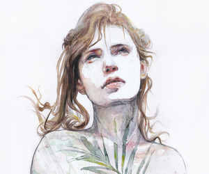 art, watercolor, and beautiful image