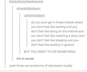 depression, tumblr, and quotes image