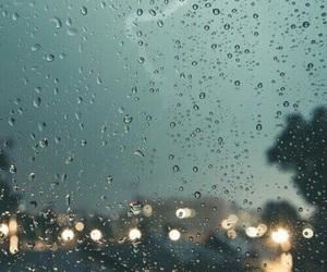rain, window, and light image
