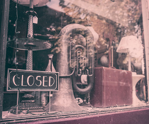 music, shop, and closed image