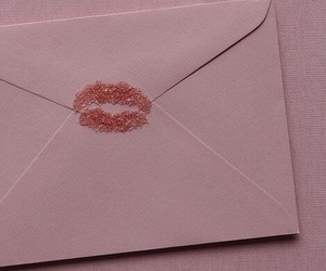 letters, kisses, and pink image