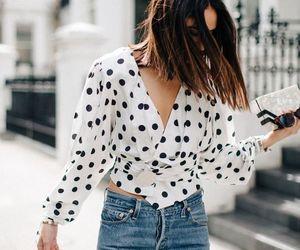 chic, polka dots, and fashion image