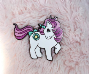 my little pony, pin, and pink image