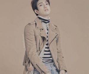 brown, tan, and jinyoung image