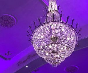 purple and crystal chandelier image