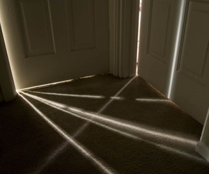 light, door, and photography image