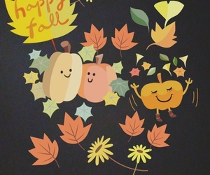 autumn, cartoon, and fall image