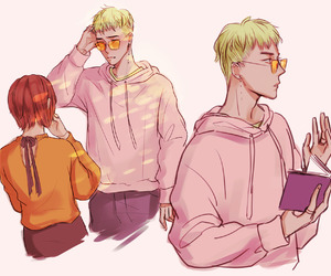 asian, fanart, and handsome image