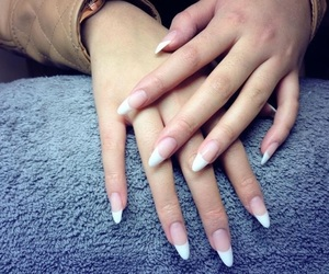 chic, clear, and nails image