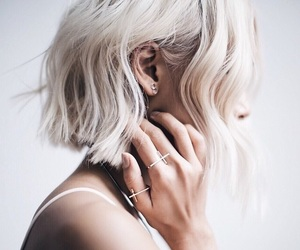 hair, white, and rings image