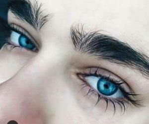 mirada, ojos, and azules image
