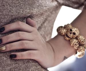 fashion, nails, and bracelet image
