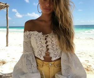 beach, style, and beauty image