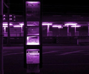 Darkness, metro, and purple image