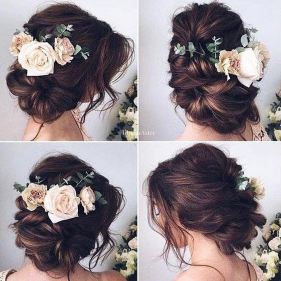 Fryzury ślubne Luźne Upięcia Z Kwiatami Najpiękniejsze
