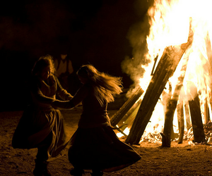fire, dance, and witch image