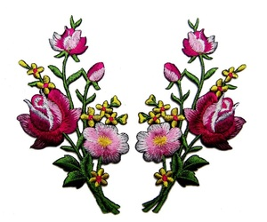 flowers and patch image