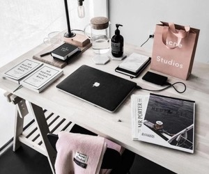 desk, study, and white image