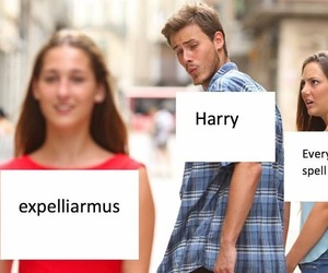harry potter, funny, and meme image