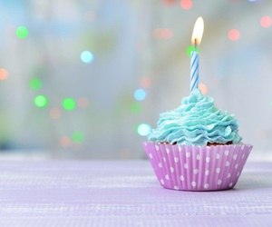 birthday, blue, and candle image