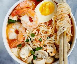 food, shrimp, and egg image