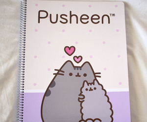 cat, notebook, and purple image