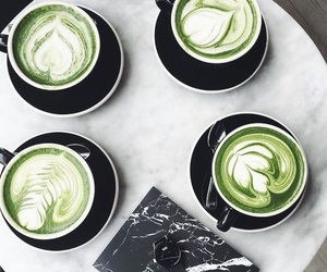green, coffee, and white image
