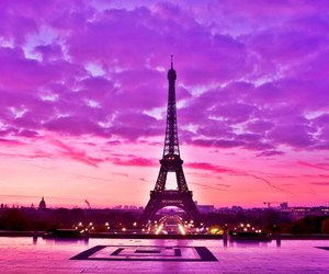 paris, purple, and france image