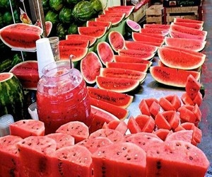 fruit, watermelon, and yummy image
