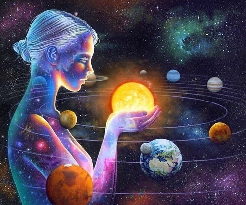 art, galaxy, and planet image