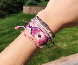 bracelets, colorful, and pink image