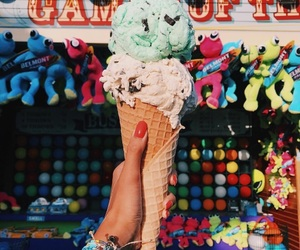 colors, icecream, and yummy image