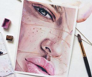 drawing, girl, and art image