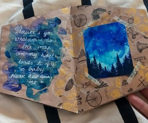 blue, diary, and forest image