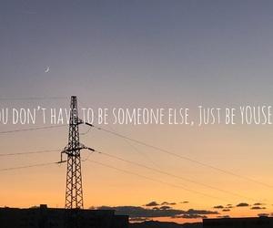 beautiful, sunset, and moon image