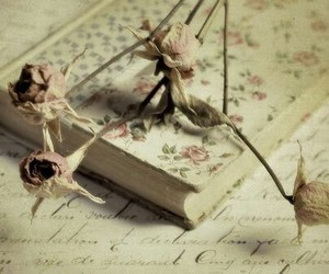 book, floral, and vintage image