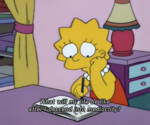 lisa simpson, the simpsons, and cartoon image