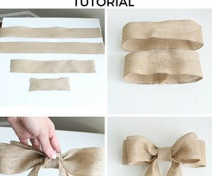 diy burlap bow, burlap bow tutorials, and how to make burlap bow image