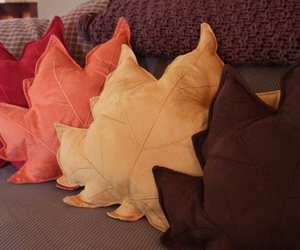 pillow, leaves, and autumn image