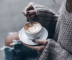 coffee, sweater, and cold image