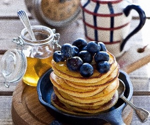 blueberries, breakfast, and autumn image