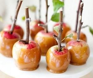 apple, food, and caramel image