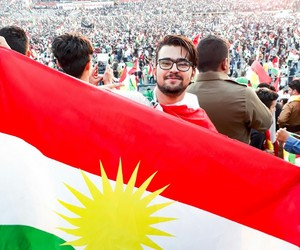flag, kurdish, and kurdistan image