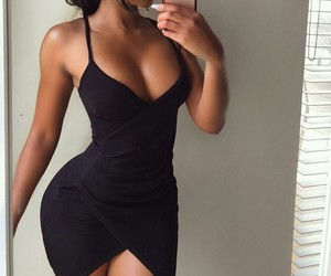 black dress, outfit fashion, and perfect perfection image