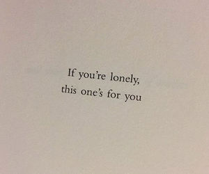 quote, lonely, and words image