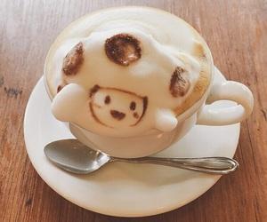 coffee, latte art, and japan image