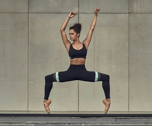 ballerina, ballet, and under armour image