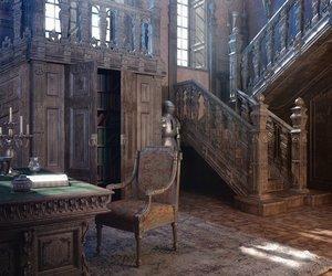 antique, escalier, and Bureau image